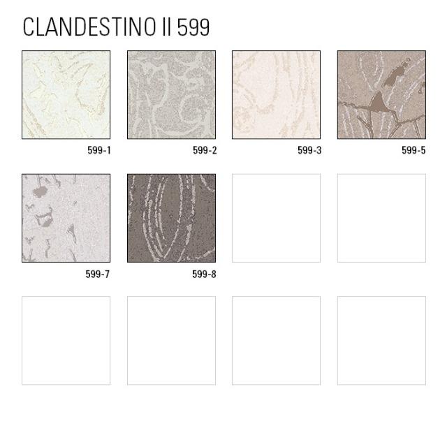 ATLAS CLA-599-7 Barock Tapete Ornament glänzend silber perl-beige grau-beige 5,33 m2