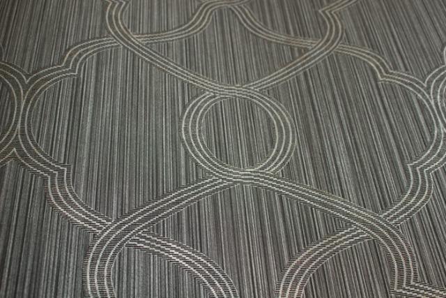 Atlas PRI-557-3 Exklusive Luxus Tapete Ornament schimmernd silber grau 5,33 m2