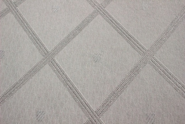 Atlas PRI-560-1 Grafik Tapete Rauten Muster schimmernd weiß grau silber  5,33 m2