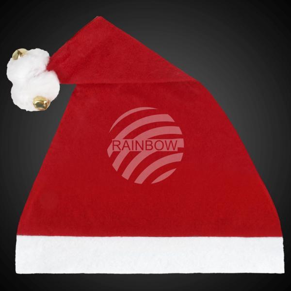 Weihnachtsmütze Nikolausmütze 2 Bommel, 2 Glocken