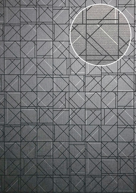 ATLAS XPL-591-7 Grafik Tapete Geometrisch glänzend platin graphit-grau grau 5,33 m2