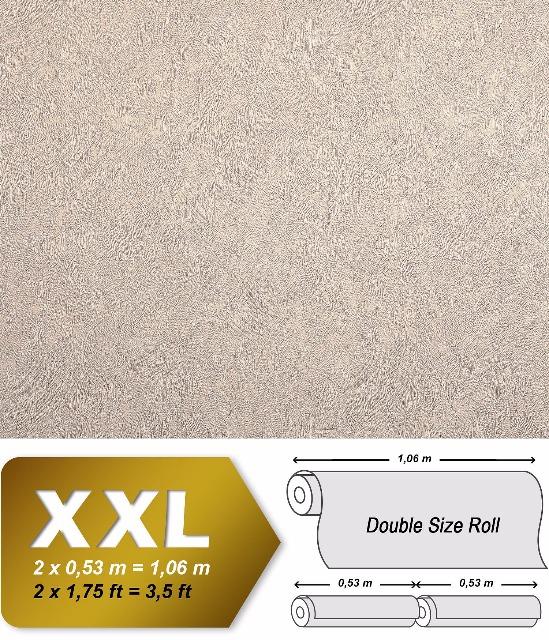 Uni Tapete EDEM 9009-23 Vliestapete geprägt mit abstraktem Muster glänzend beige hell-elfenbein 10,65 m2