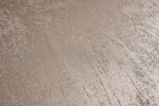 Atlas TEM-5113-2 Uni Tapete Spachteloptik cappuccino grau-beige 7,035 m2
