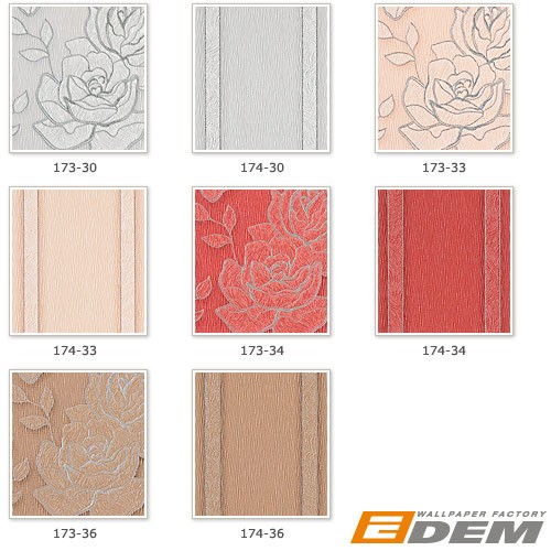 EDEM 174-36 Design Streifen Tapete Vinyltapete hell kakao-braun silber