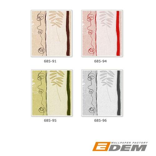 EDEM 685-96 Vliestapete Designer Streifentapete floral weiß hellgrau | 10,65 qm