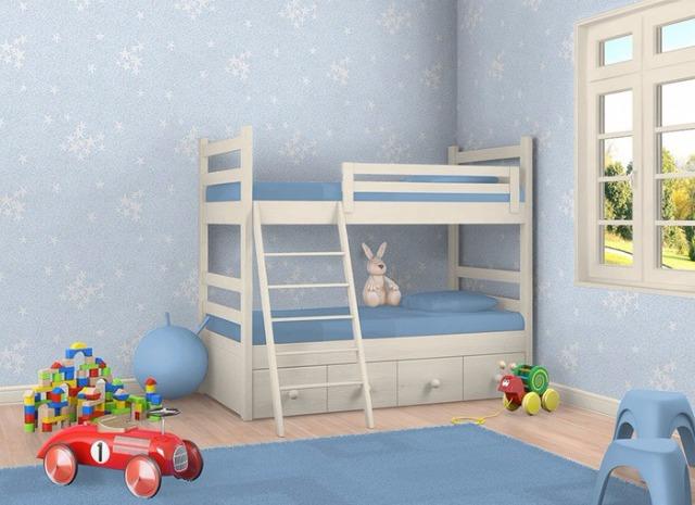 Kindertapete Sternentapete EDEM 533-32 Decken Wand Tapete Blau leuchtende Sterne