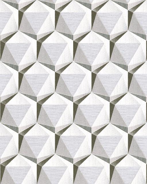 Retro Tapete EDEM 1050-10 Vinyltapete leicht strukturiert mit geometrischen Formen dezent glitzernd creme beige-grau platin weiß 5,33 m2
