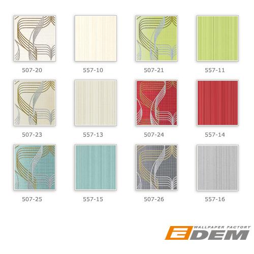 Streifen-Tapete EDEM 557-16 Hochwertige Tapete strukturiert in Textiloptik matt grau-weiß signal-grau silber-grau 5,33 m2
