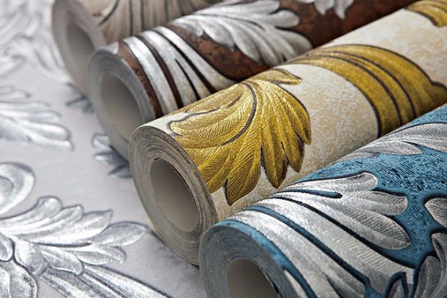 Barock Tapete EDEM 1032-12 Vinyltapete glatt mit Ornamenten und Metallic Effekt blau petrol silber platin 5,33 m2
