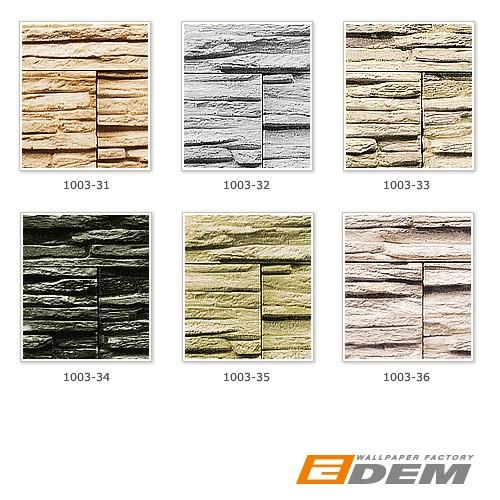 Stein Tapete EDEM 1003-32 Tapete Naturstein Bruch-Stein Mauer Optik geprägte Struktur hochwaschbar grau weiß