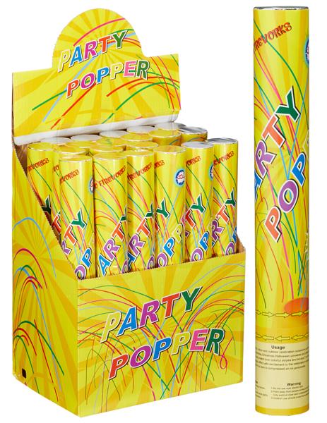 17-73057, Party Popper De Luxe, 4x30cm, schießt 5-8 Meter hoch, Partypopper, Konfettishooter, Konfettikanone