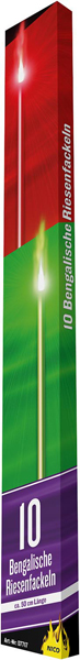 17-7717N, Bengalische Fackeln 50 cm, 10er Pack, Silvester, Party, Event, usw