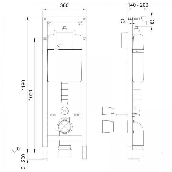 Wisa Xs Wc Vorwand Element Trockenbau Einbau 15241786 Restposten De
