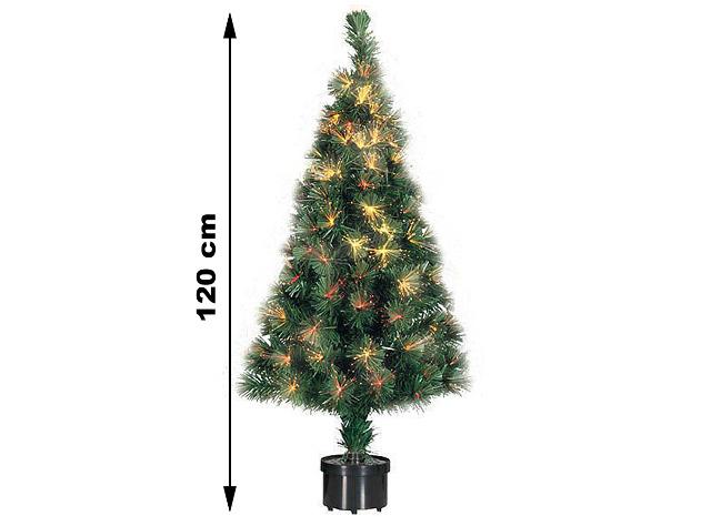 Weihnachstbaum Kunststoff mit 140 Ästen Fieberglas Beleuchtung Glasfaser Tannenbaum Weihnachten Weihnachtsbeleuchtung 120 cm inkl. Ständer -