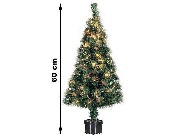 Weihnachstbaum Kunststoff mit 60 Ästen Fieberglas Beleuchtung Glasfaser Tannenbaum Weihnachten Weihnachtsbeleuchtung 60 cm inkl. Ständer - 7