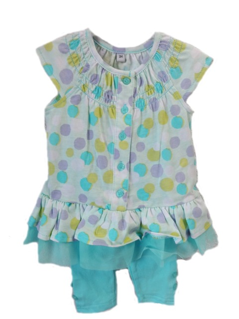 04457737584122 Baby   Kinderkleidung Mädchen-Sets - Dot blau (15577137) - Restposten.de
