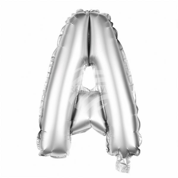 Folienballon Helium Ballon silber Buchstabe A