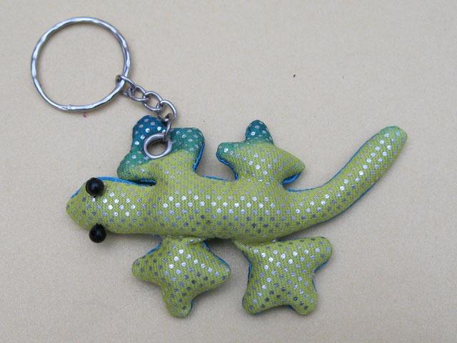 Schlüsselring, Gecko, mit Sand gefüllt