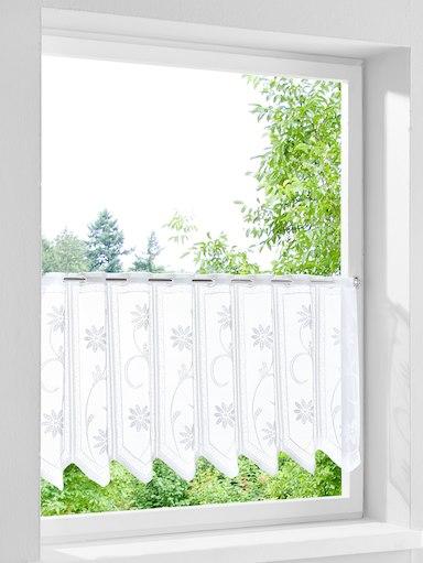 Scheibengardine 'Chiara' Bistrogardinen Weiß H/60 x B/140 cm Neu Stangendurchschub Made in Garmany Stück 2,99 €