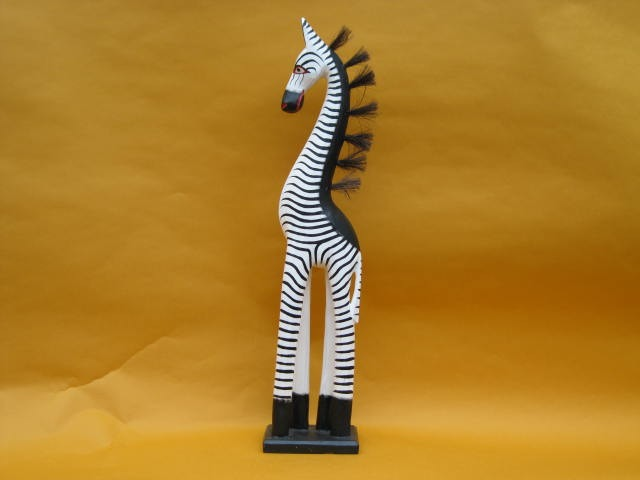 Giraffen-Zebra auf Sockel, 50 cm hoch