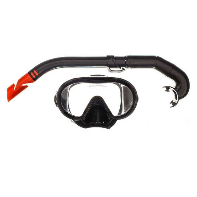 Maske mit Schnorchel Polycarbonat Glas Ocean 21025