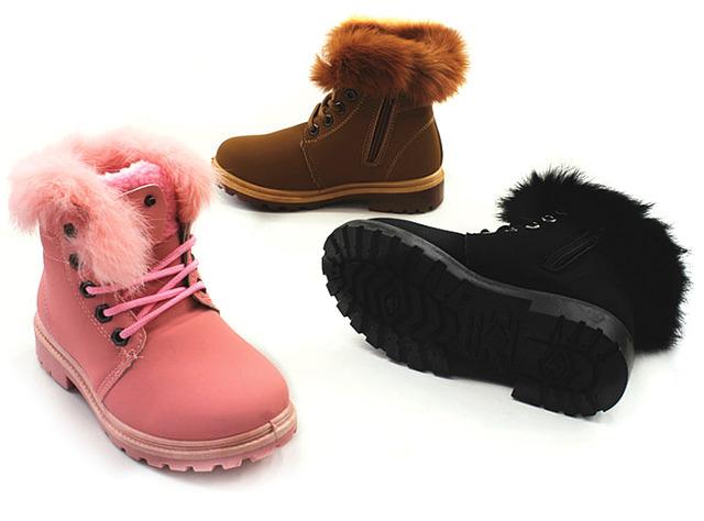 Kinder Mädchen Trend Stiefeletten Fell Boots Stiefel Halbstiefel Schlupfstiefel Warm Gefüttert Herbst Winter Shoes Outdoor Freizeit - 12,90