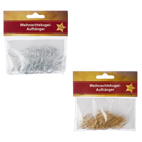 12-24799, Weihnachtskugel-Aufhänger 50er Pack, Baumhänger