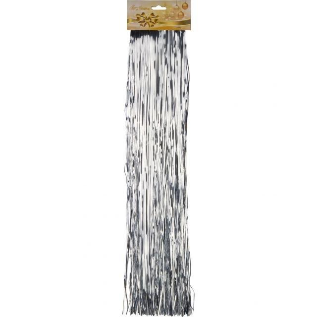 28-460307, Lametta silber, Länge: 50 cm, 1,5 mm breit, Baumschmuck, Weihnachtsbaum, Tannenbaum
