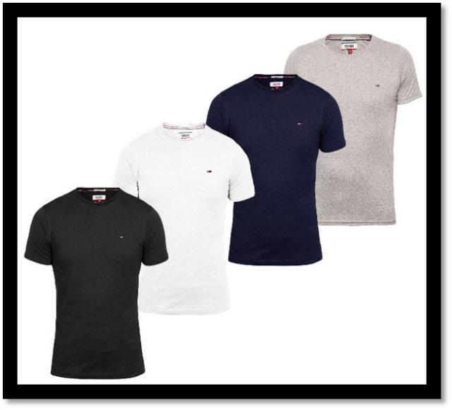 Tommy Hilfiger Rundhals/Roundneck T-shirt Schwarz/Grau/Weiß/Blau  S - XXL