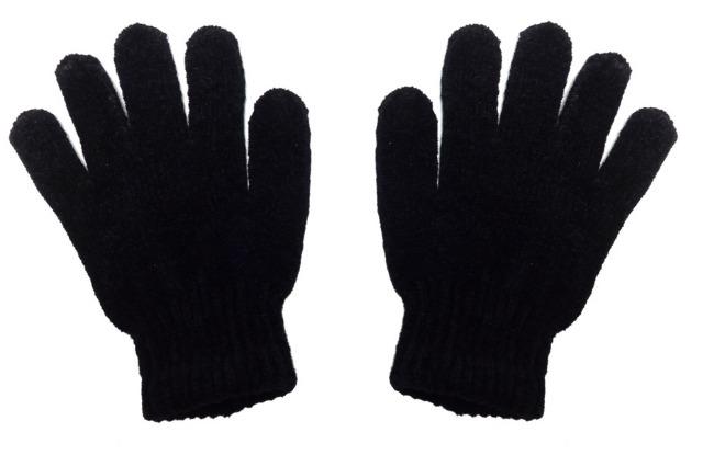 Frauen strickte Winterhandschuhe - schwarz