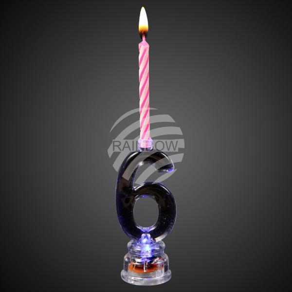 LED Kerzenhalter Zahl 6