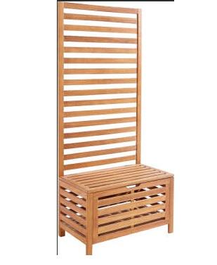 Sitzbank mit Rankhilfe Gartensitz Rosen Rankhilfe, Gartenbank mit Rankgitter - Neu mit Kartonschäden