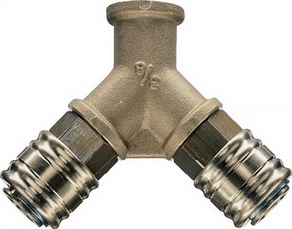 Y-Verteiler DN 7,2 Anschluss g 3/8 innen Messing 10mm