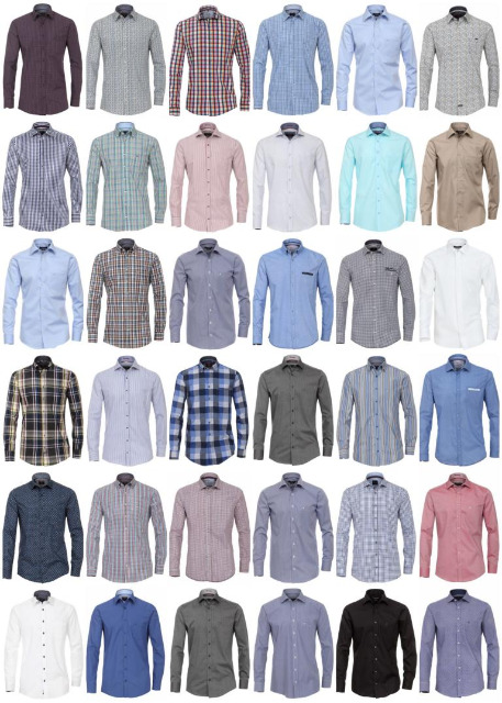 Herren Hemden Marken Hemd Langarm Business Casual Mix Mode Kleidung