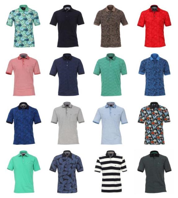 Herren Marken Polos Oberteile Tops Shirts Kurzarm Mix Sommer Polo Mode
