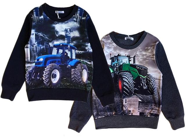 Kinder Jungen Pullover Sweatshirt Traktor Bauer Farmer Langarmshirt Shirt Pulli Sweater Kinderpullover Oberteil - 7,90 Euro