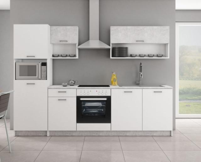 Küche 270 cm mit Arbeitsplatte (15594467) - Restposten.de