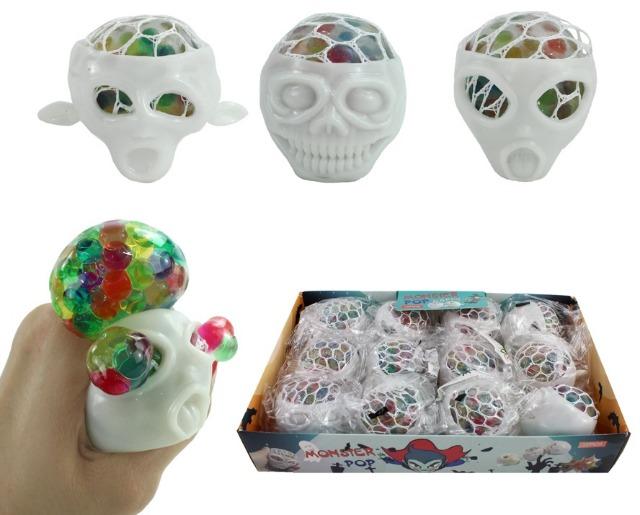 27-83971, Knautschball Monster 5,5 cm, zum Quetschen und Kneten, Knetball, Antistressball