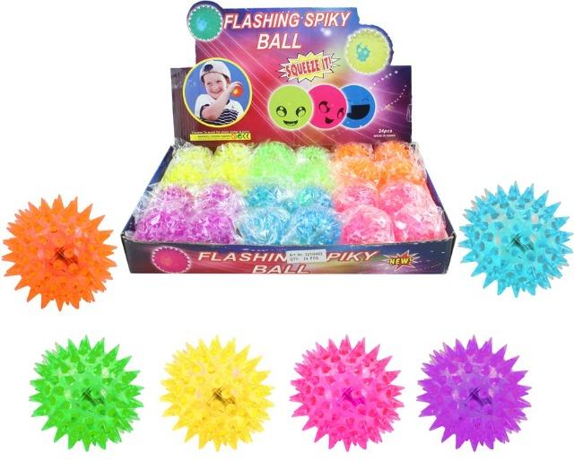 27-83974, Stachelspringball mit Licht, Flummi, Springball