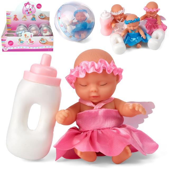 28-020656, Babypuppe mit Trinkflasche, Spielpuppe