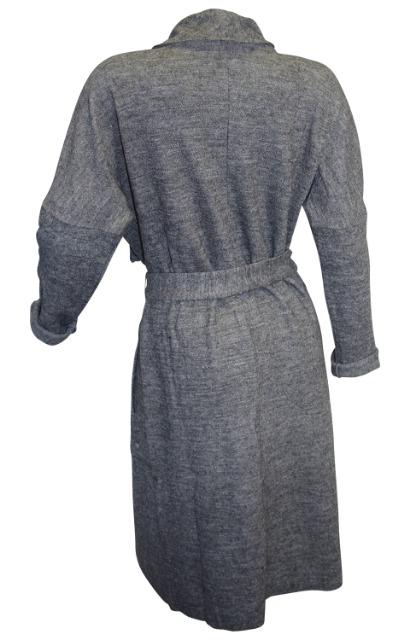 Winter Mantel Damen Strickmantel Mit Wolle Grau Meliert In 7 Größen