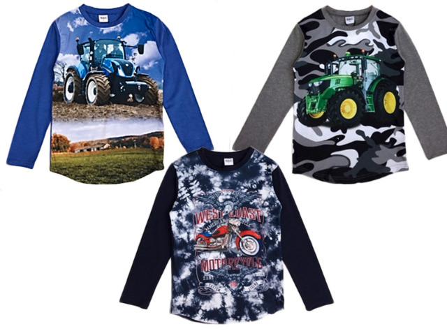 Kinder Jungen Traktor Camouflage Streifen Sweatshirt Pullover Shirt Oberteil Langarm Kindershirt - 5,19 Euro