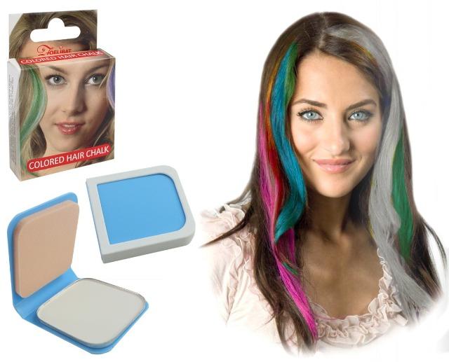27-52563, Haarkreide 6g WEIß, mit Haarspray oder Lockenstab fixieren, Party, Karneval, Fasching, Event, usw