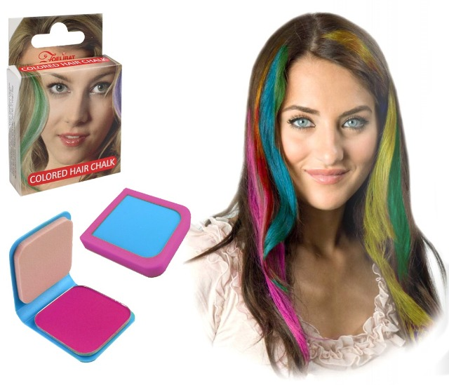 27-52569, Haarkreide 6g PINK, mit Haarspray oder Lockenstab fixieren, Party, Karneval, Fasching, Event, usw