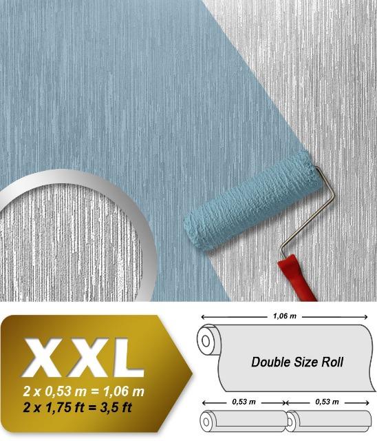 Struktur Vliestapete zum Überstreichen EDEM 373-60 XXL dekorative gestreifte Struktur Dekor-Tapete weiß | 26,50 qm Grossrolle