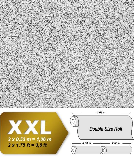 Vliestapete zum Überstreichen EDEM 307-70 XXL dicke stabile streichbare Tapete rauhfaser-putz-muster weiß   26,50 qm