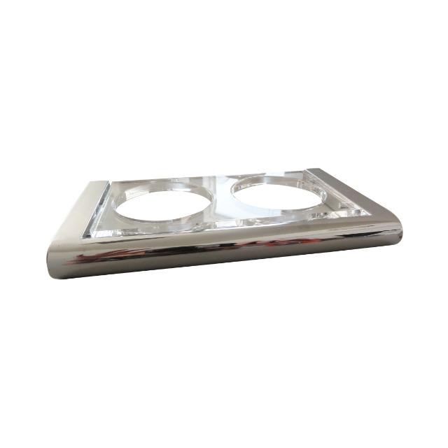 Zahnputzbecher Becherhalter doppelt Haceka Serie Viero Chrome Angeboten wird hier 1 Posten = 340 Stück Art. Nr. 415408 2er Zahnputzbecher