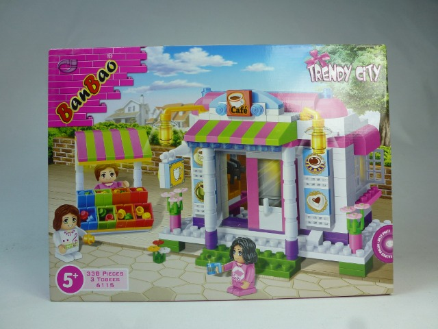 BanBao Bausteineset 338 Teile, Construction Toy, Building Blocks, Bauset, Baukasten, Bauklötze, Konstruktionsset
