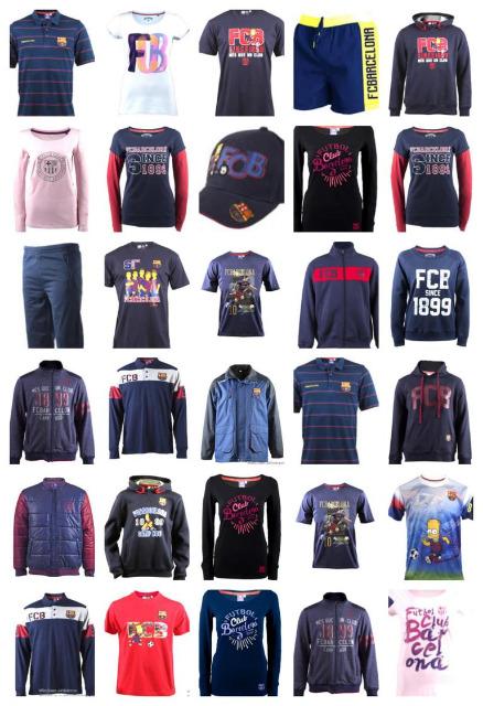 FC Barcelona Fan-Bekleidung Sportbekleidung Fussball Kleidung Mix Restposten Sport