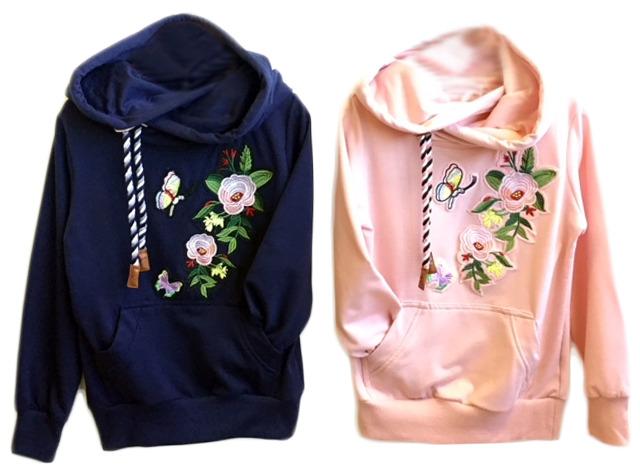 Kinder Mädchen Pullover Hoody Applikation Patches Langarmshirt Shirt Pullover Pulli Sweater Kinderpullover Oberteil - 5,90 Euro